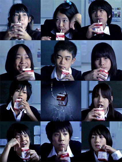collage di foto di studenti dal film confessions