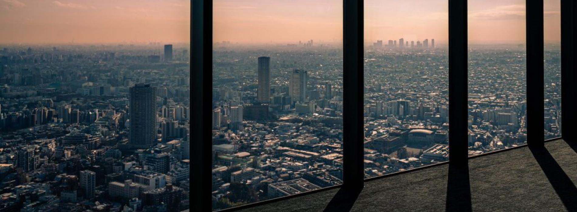 vista di Tokyo dall'alto di un grattacielo