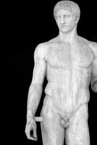 statua di doriforo dal Mann