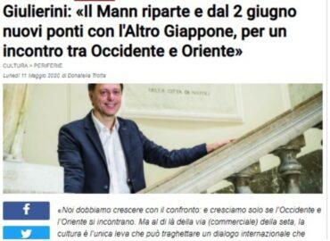 screenshot dall'articolo di donatella trotta che riporta anche una foto del direttore del Mann Giulierini