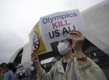 proteste dei giapponesi contro i giochi olimpici di tokyo 2020