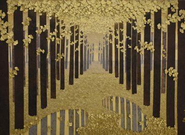 forest after the rain opera di Minori Shimizu, tecnica mista con origami