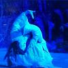 tamasaburo bando in una scena finale del kabuki 'sagimusume'